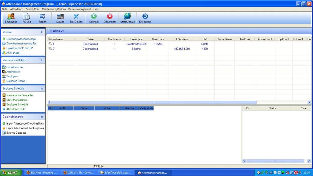 attendance management software mesin